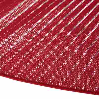 Gartentischdecke PVC oval rot 160 x 210 cm
