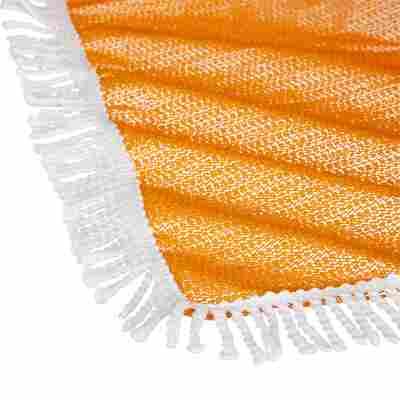 """Gartentischdecke """"Fransen"""" PVC rechteckig orange 160 x 130 cm"""