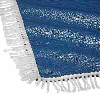 """Gartentischdecke """"Fransen"""" PVC dunkelblau 160 x 130 cm"""