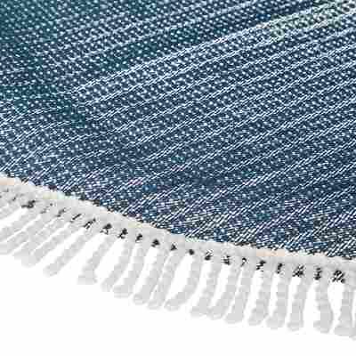 Gartentischdecke Ø 130 cm PVC rund dunkelblau