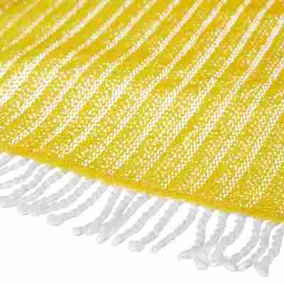 Gartentischdecke Fransen gelb Ø 130 cm