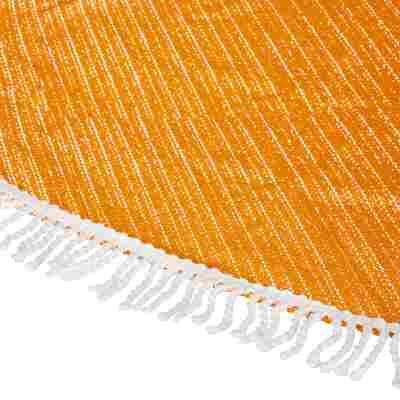 """Gartentischdecke """"Fransen"""" PVC orange 210 x 160 cm"""
