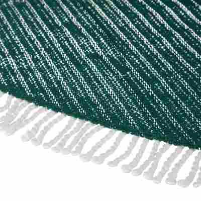 Gartentischdecke PVC oval dunkelgrün 160 x 210 cm