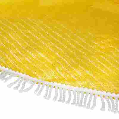 Gartentischdecke 'Fransen' PVC gelb 210 x 160 cm