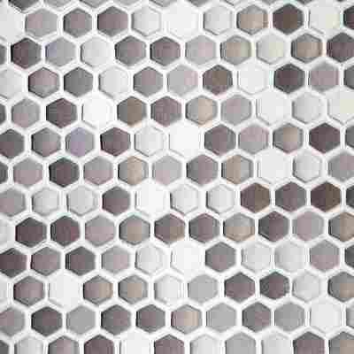 Wandbelag 'Ceramics Hexagon' grau, Breite 67,5 cm