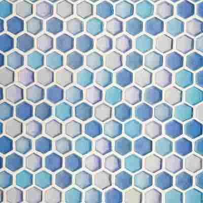 Wandbelag 'Ceramics Hexagon' blau, Breite 67,5 cm