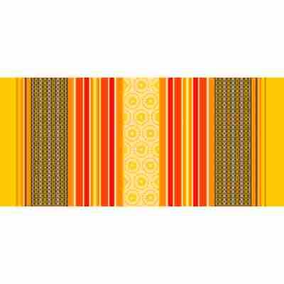 Wachstuch-Tischdecke 'Manhattan' amelle-gelb 140 cm