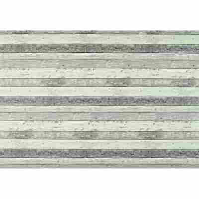 Wachstuch-Tischdecke 'Manhattan' naturfarben 150 cm, runde Form