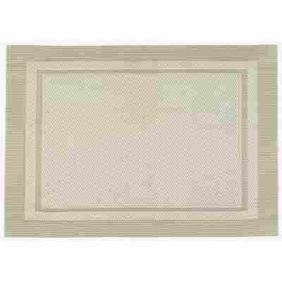 Platzdecke 'Catania' square-beige 45 x 30 cm