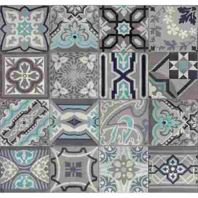 Wandbelag 'Ceramics Simenta' 0,675 x 20 m grau/blau