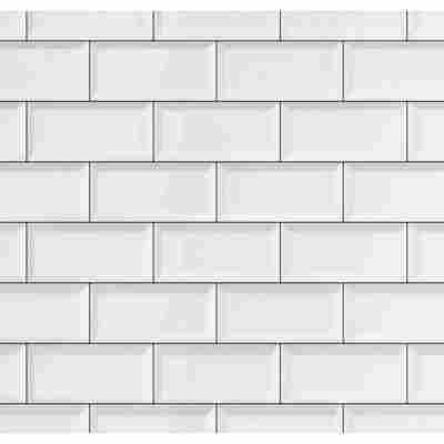 Wandbelag 'Ceramics Subway Tiles' 0,675 x 20 m weiß