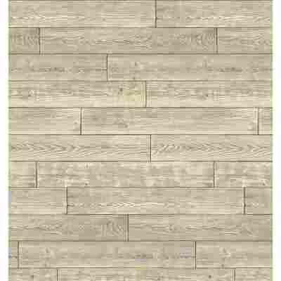 Wandbelag 'Ceramics Shabby Wood' 0,675 x 20 m holzfarben