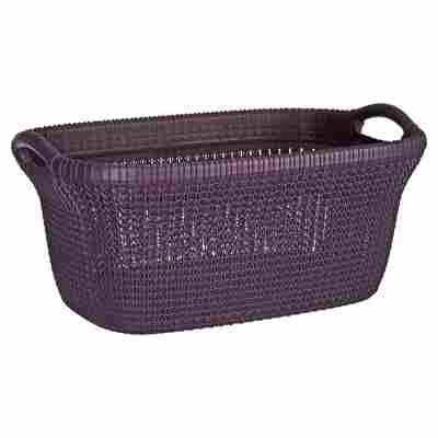"Wäschekorb ""Knit"" Kunststoff purple 40 l"