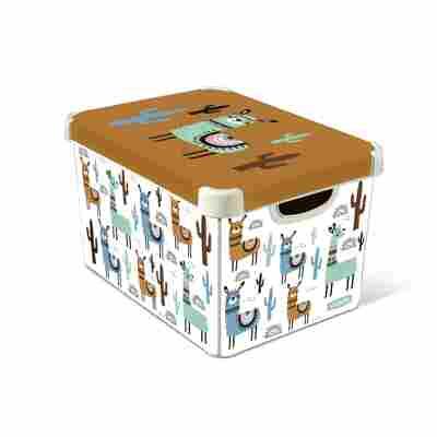 Aufbewahrungsbox 'Deco Lama' 39,5 x 29,5 x 24 cm