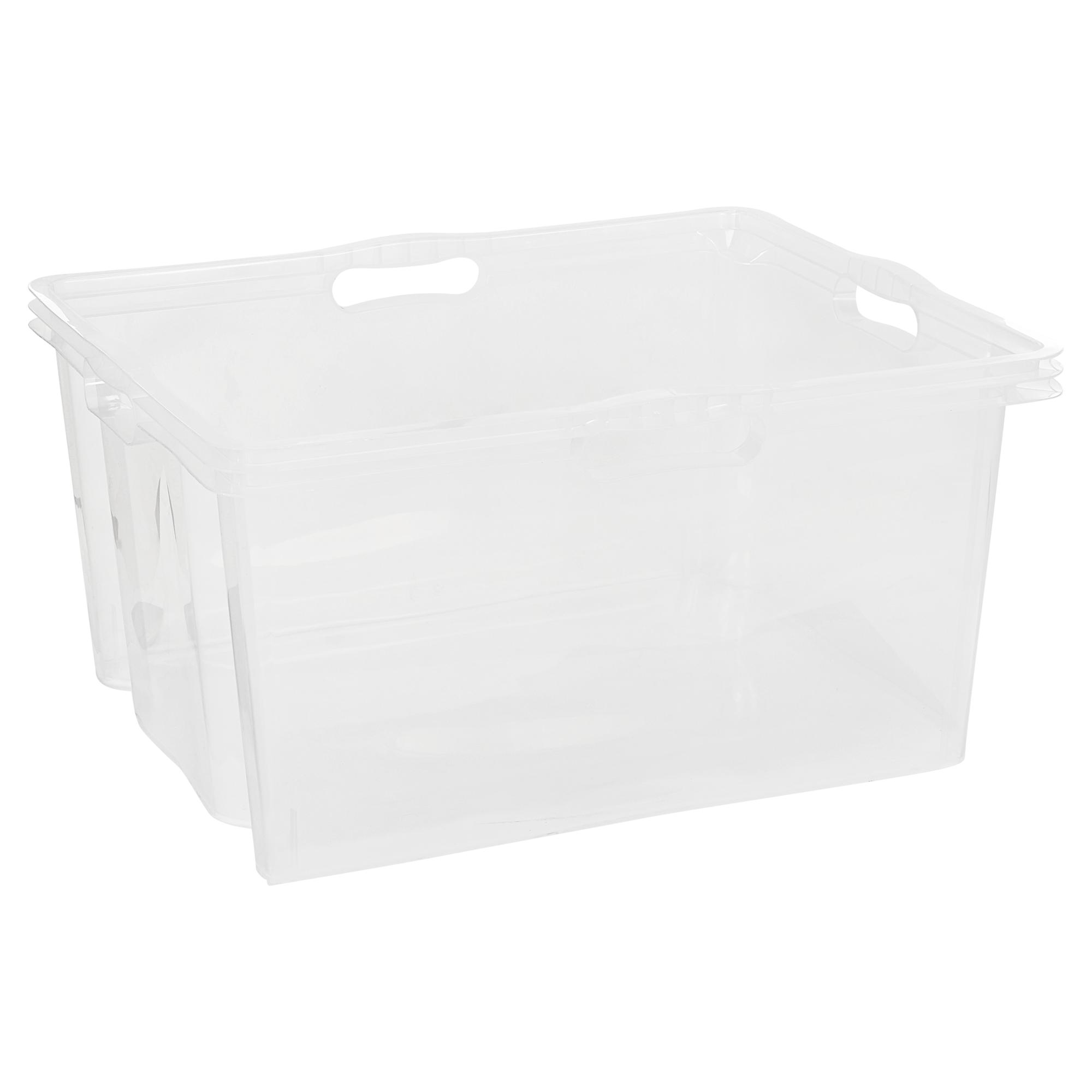 4 Stück 60x40x 22cm Lagerboxen Stapelboxen Kunststoffkisten UNISTA Kunststoffbox