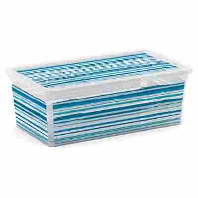 Kunststoffbox XS gestreift 33,5 x 19 x 12 cm