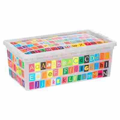 Kunststoffbox XS ABC Design 33,5 x 12 x 12 cm