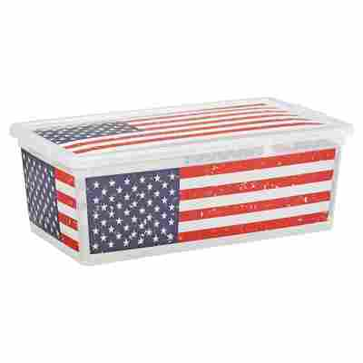 "Kunststoffbox ""C Box"" American Flag XS 33,5 x 19 x 12 cm"