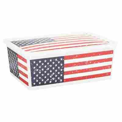 "Kunststoffbox ""C Box"" American Flag S 37 x 26 x 14 cm"