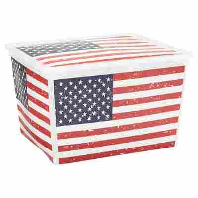 "Kunststoffbox ""C Box"" American Flag Cube 40 x 34 x 25 cm"
