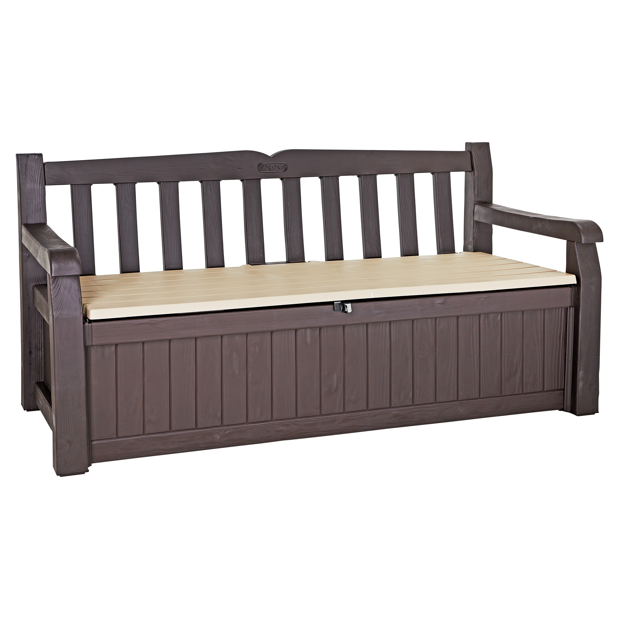 gartenbank 2 sitzer mit stauraum toom baumarkt. Black Bedroom Furniture Sets. Home Design Ideas