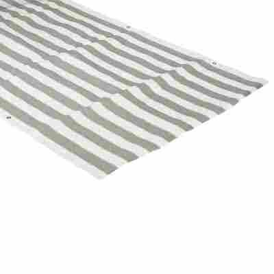 Balkonverkleidung Polyethylen grau/weiß 90 cm Meterware