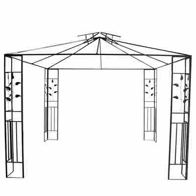 Stahlpavillon 'Livorno' anthrazitgrau 300 x 285 x 300 cm