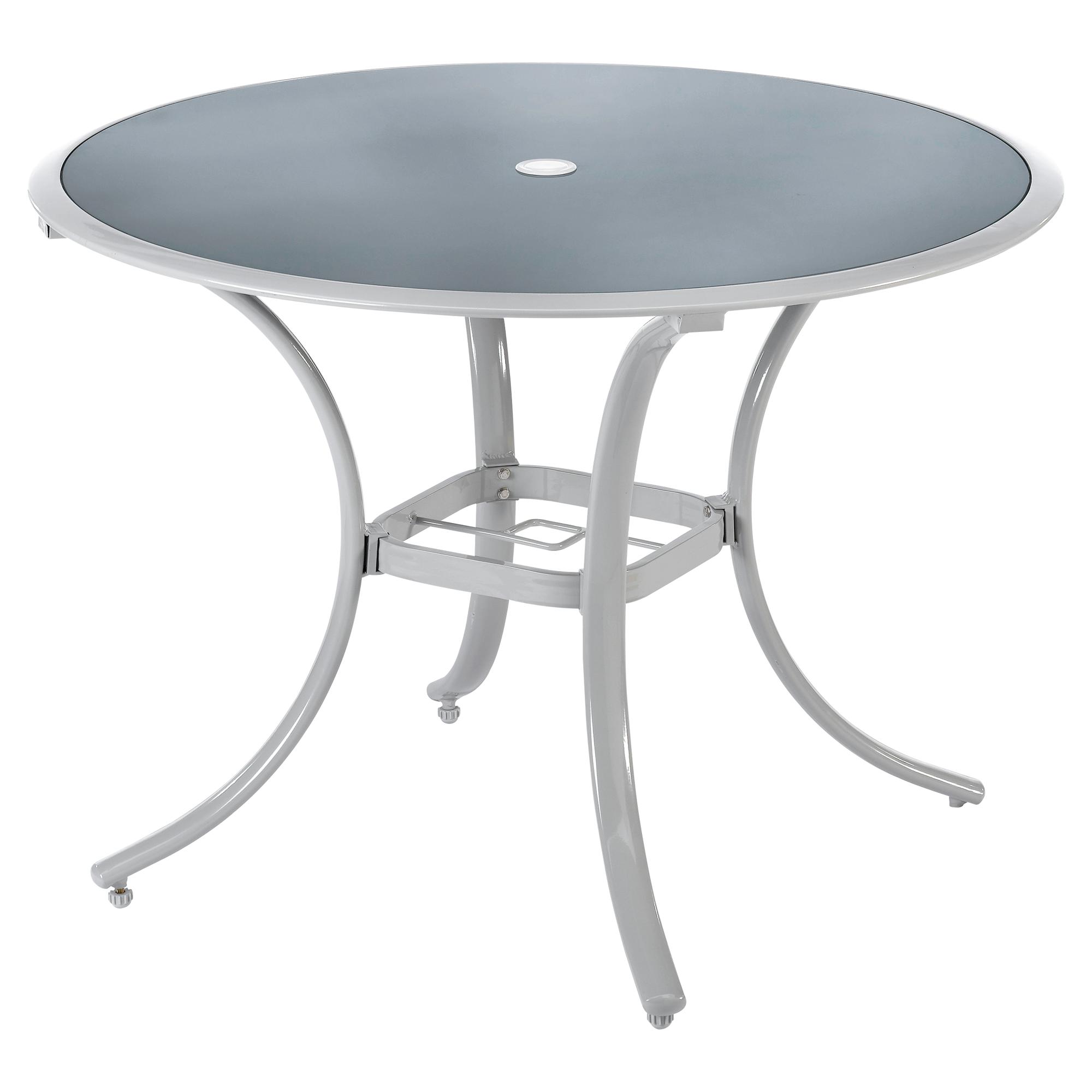 Gartentisch 1 20 M Gartentisch Mexico X Aluminium Milchglas With