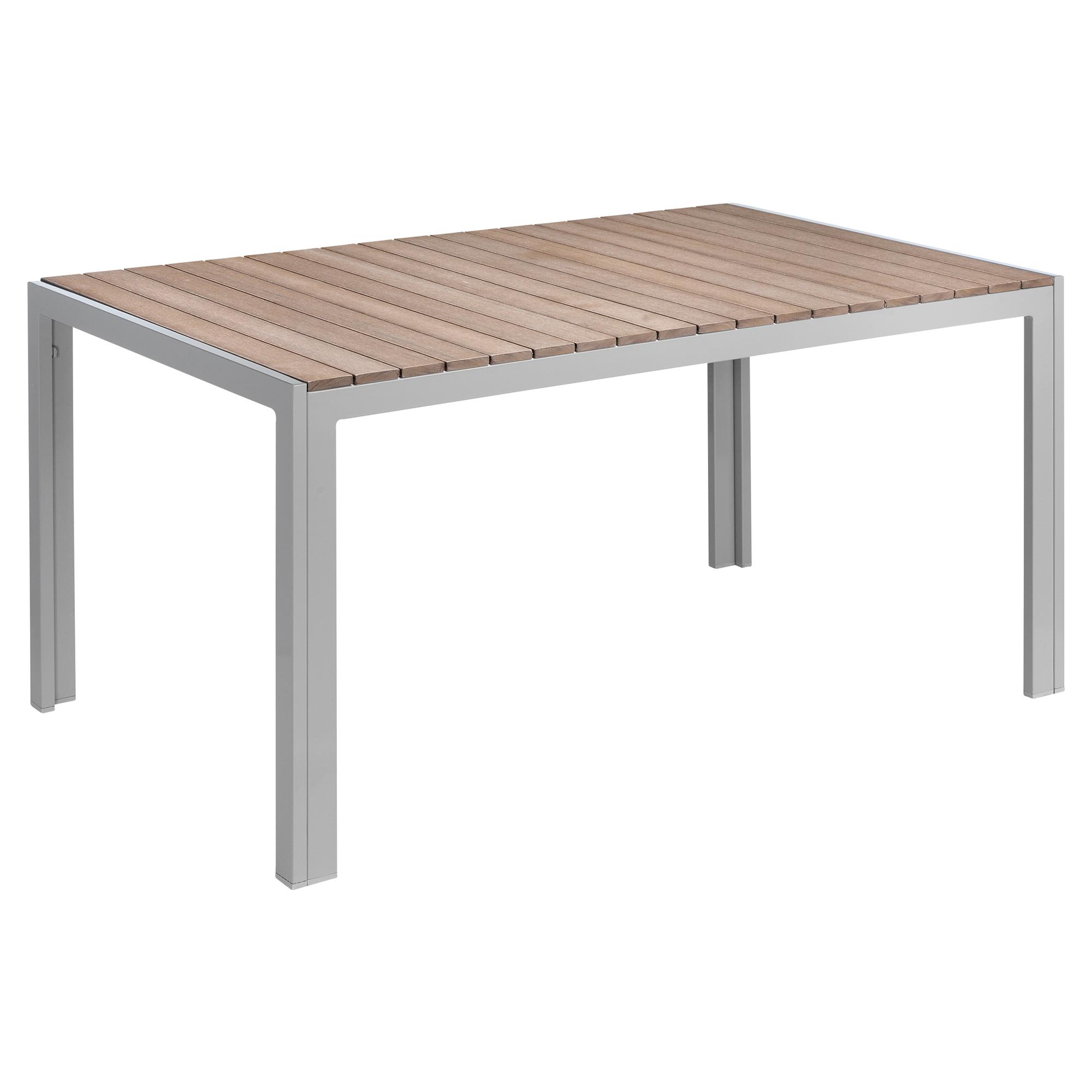 Gartentisch Nadja Braun Hellgrau 150 X 90 X 75 Cm ǀ Toom Baumarkt