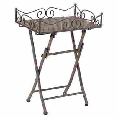 Beistelltisch 'Toulouse' Stahl eisengrau 51 x 69 x 36 cm