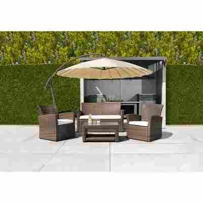 Lounge-Set 'Larissa' braun 4-teilig