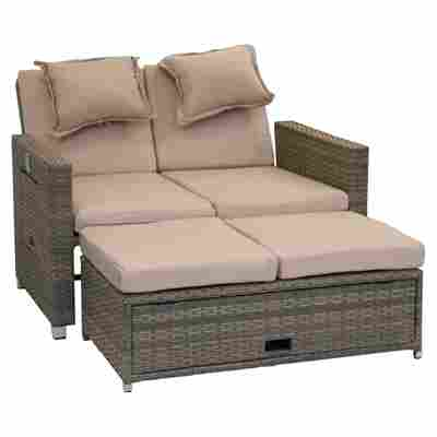 Loungesofa Set Bahia Twin Rattan 2 Tlg