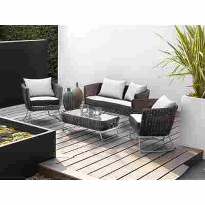 Lounge-Set 'Mila' braun 4-teilig