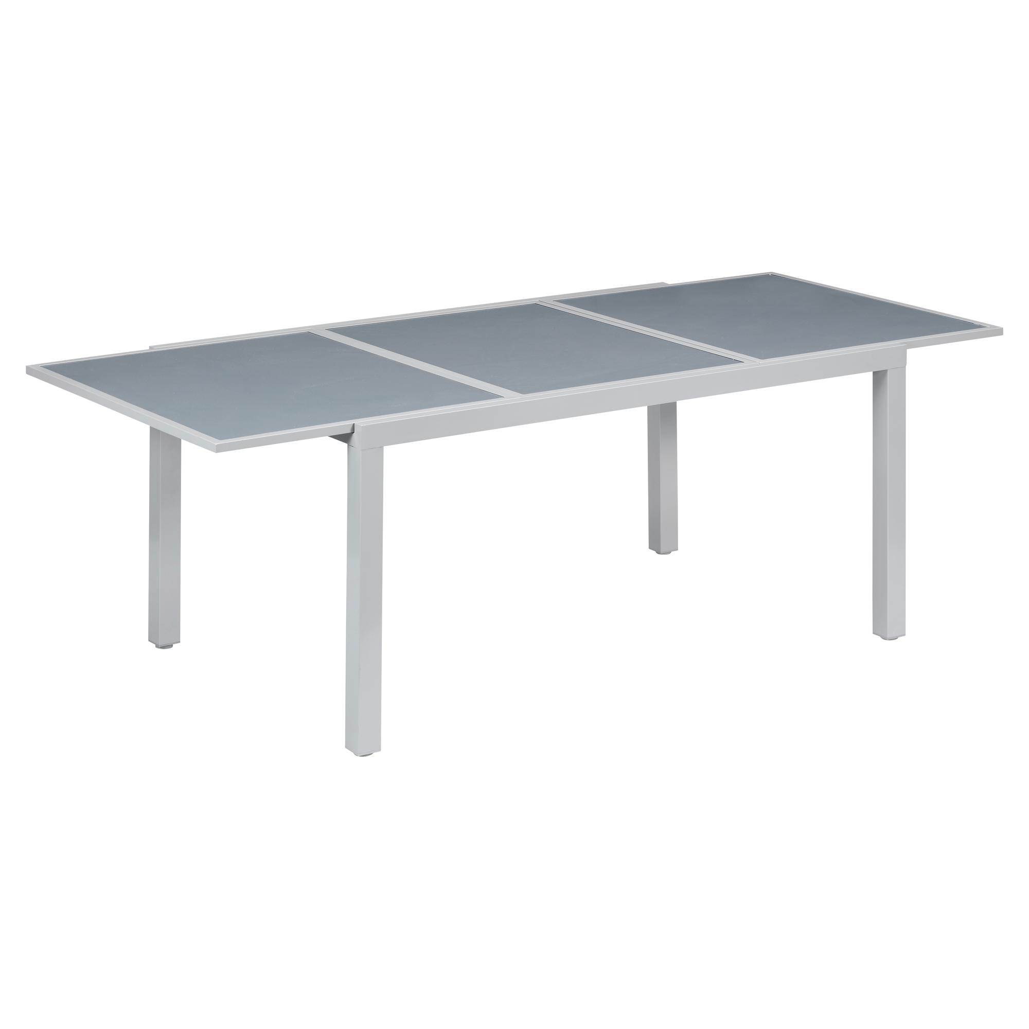 Gartentisch U0027Meikeu0027 Glas/Aluminium Ausziehbar 159,6/230 X 100 X