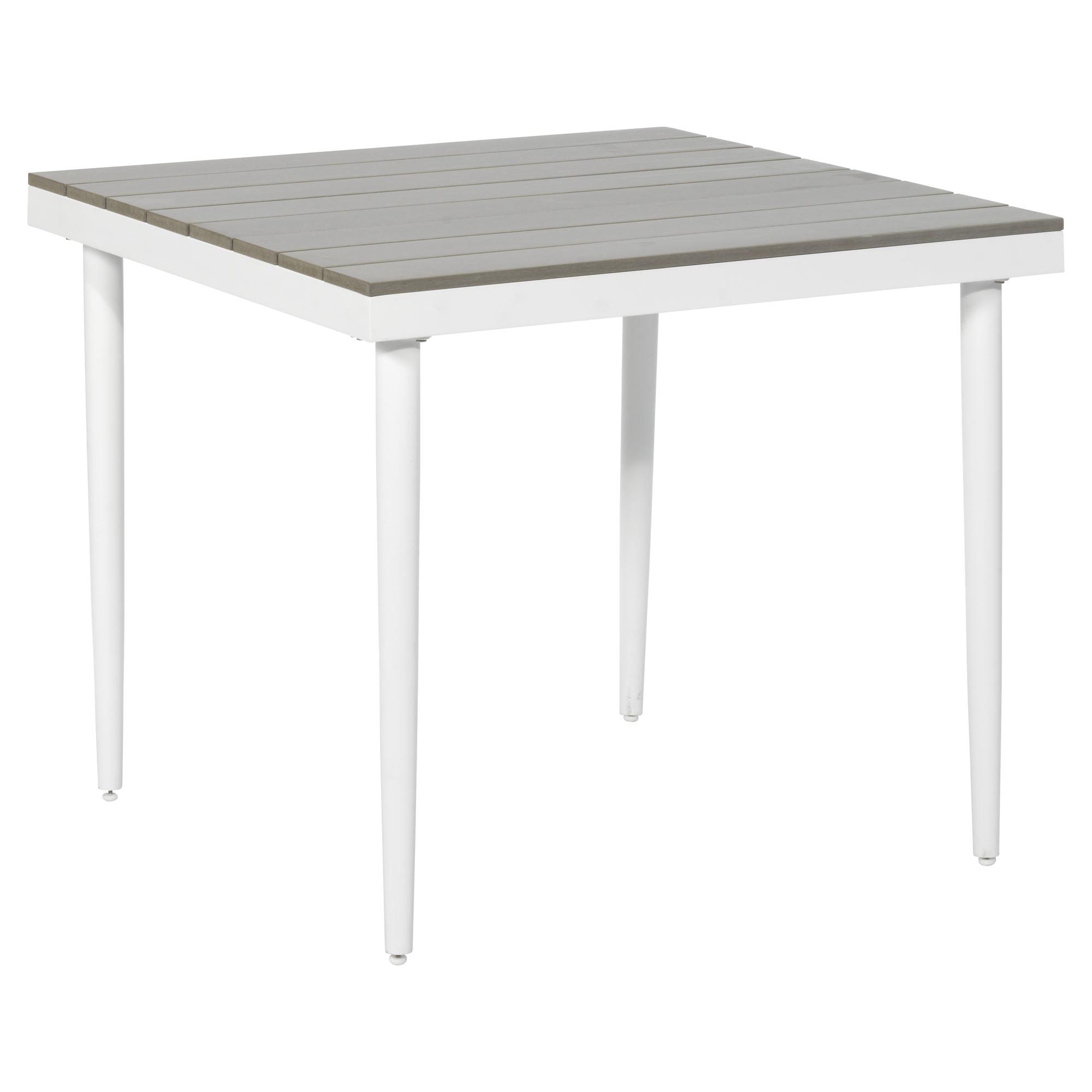Gartentisch Moni Polywood Grau Weiss 90 X 90 X 76 Cm ǀ Toom Baumarkt