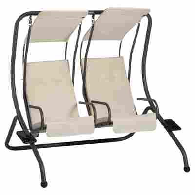 Hollywoodschaukel 'Twin' 2-Sitzer schwarz/beige