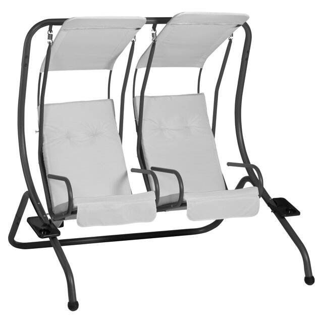 hollywoodschaukel twin 2 sitzer schwarz beige toom. Black Bedroom Furniture Sets. Home Design Ideas