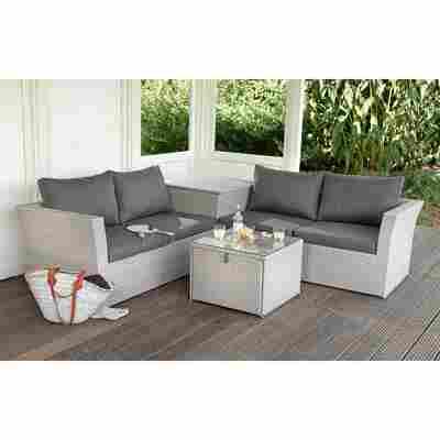 Lounge-Set 'Madlene' grau 4-teilig