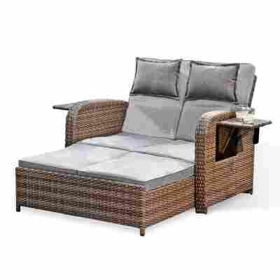 Multifunktions-Sofa 'Trinidad' braun/grau 117 x 90 x 90 cm