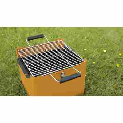 Holzkohlengrill 'Chill&Grill' orange 31,5 x 31,5 cm