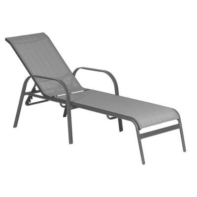 stapelliege annette grau 164 184 x 65 x 97 cm toom baumarkt. Black Bedroom Furniture Sets. Home Design Ideas