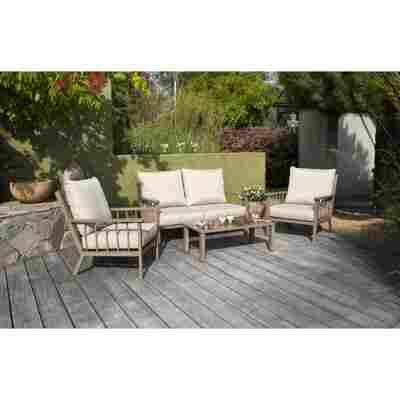 Lounge-Set 'Annabell' beige 4-teilig