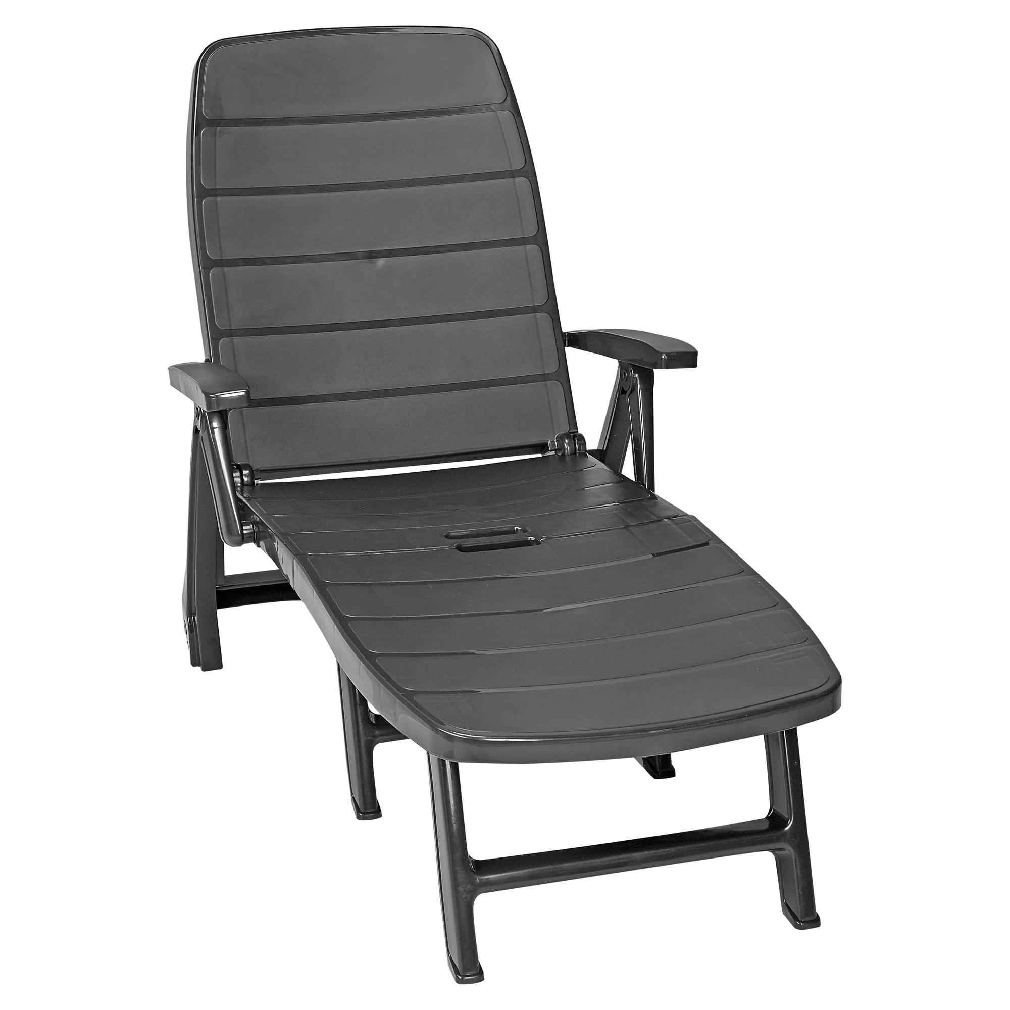 gartenliege kunststoff trendy clp sonnenliege pacific liegeflche mit rdern stapelbar with. Black Bedroom Furniture Sets. Home Design Ideas