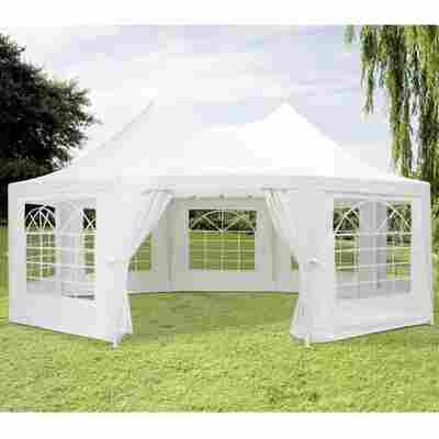 Pagodenpavillon weiß 450 x 610 cm