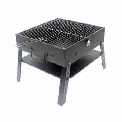 Klappbarer Picknick Grill 42 x 42 cm, schwarz