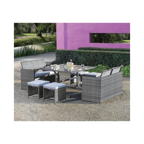 Gartenlounge Set Cube Rattan 7 Tlg ǀ Toom Baumarkt