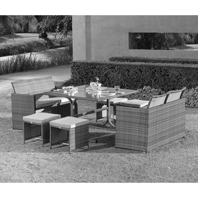 gartenlounge set cube rattan 7 tlg toom baumarkt. Black Bedroom Furniture Sets. Home Design Ideas