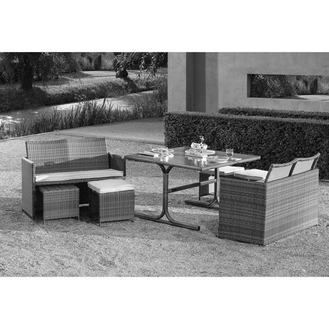 gartenlounge set cube rattan 7 tlg toom baumarkt. Black Bedroom Furniture Sets. Home Design Ideas