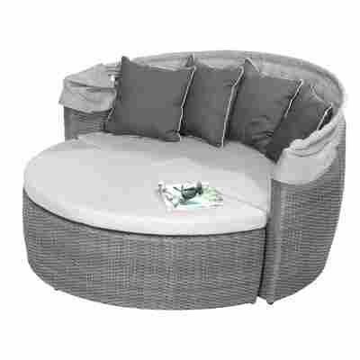 Lounge-Set 'Amelie' grau mit Sonnenschutz, 3-teilig