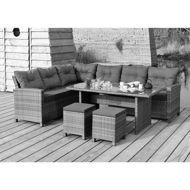 gartenlounge set 39 melina 39 rattan 5 tlg toom baumarkt. Black Bedroom Furniture Sets. Home Design Ideas